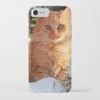 garfield iPhone & iPod Cases featuring Winter Garfield  by Lucie