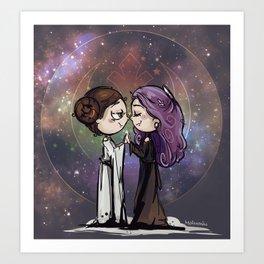 Space Girlfriends Art Print