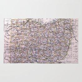Vintage Map of Ohio (1884) Rug