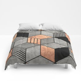 Concrete and Copper Cubes 2 Comforters