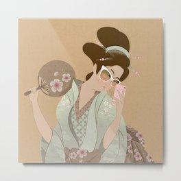 Geisha selfie Metal Print