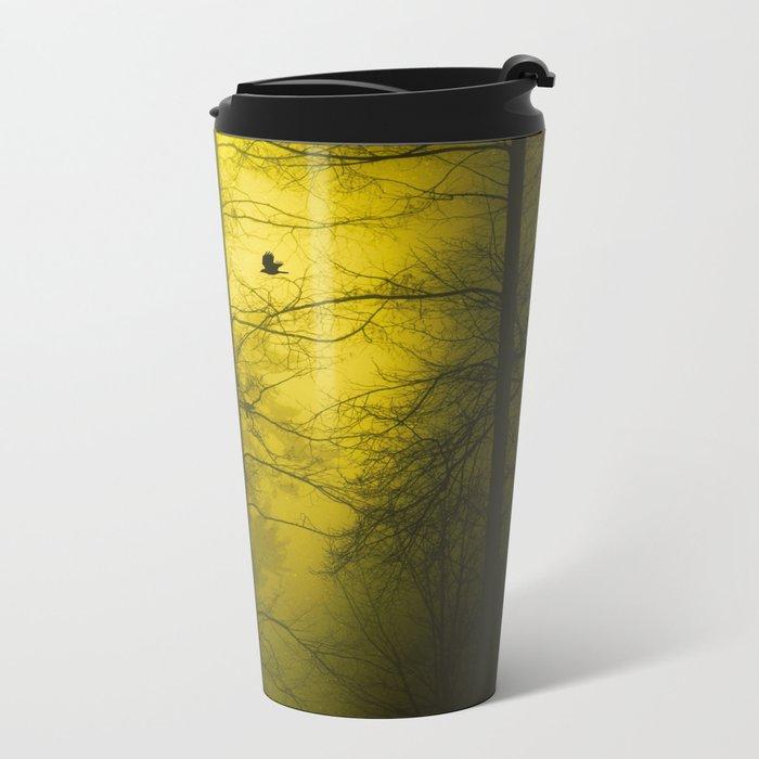 Yellow Mist Metal Travel Mug