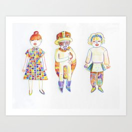 Shimokitazawa Trio Art Print