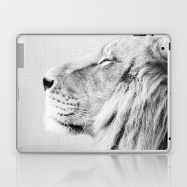 Lion Portrait - Black & White Laptop & iPad Skin