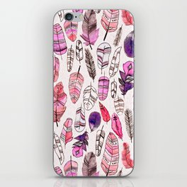Pink Feathers iPhone Skin