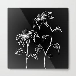 Wildflowers at Night Metal Print