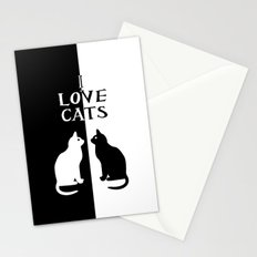 OPPOSITES LOVE: CATS Stationery Cards