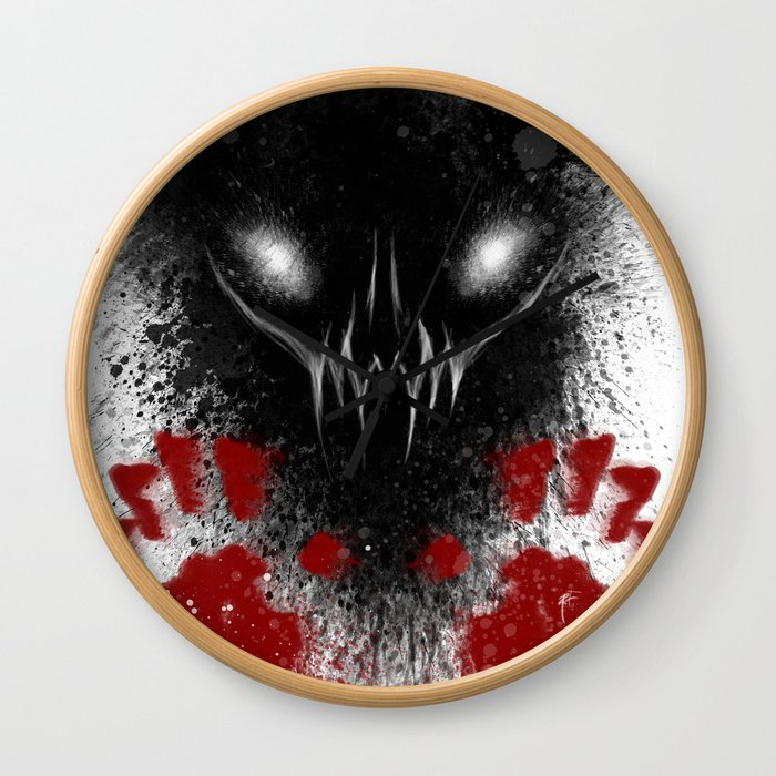 Bloody Hands Wall Clock