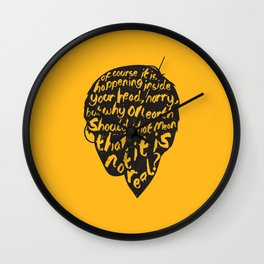 Inside Harrys Head Wall Clock