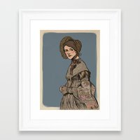 jane eyre Framed Art Prints featuring Molly Hooper as Jane Eyre by Jess P.