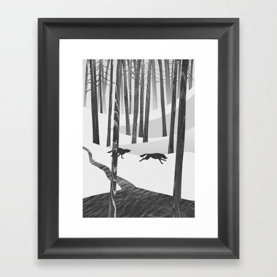 Martwood Wolves Framed Art Print