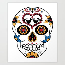 Mexican Sugar Skull Art Print