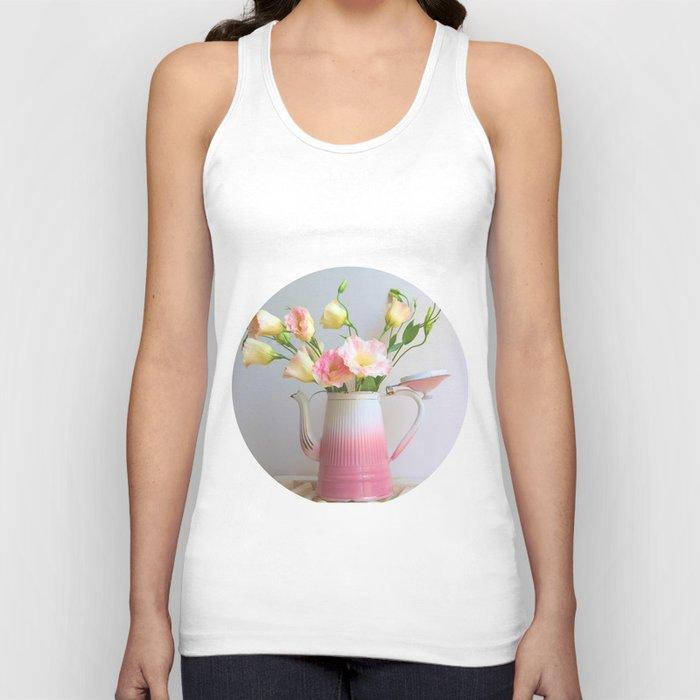 Coffee, Tea or Flowers Unisex Tank Top