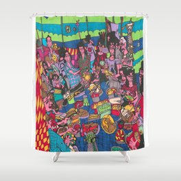 Dinner Time with Friends Shower Curtain