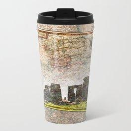 Stonehenge Art Map Metal Travel Mug