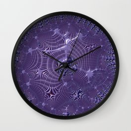 The relationships - An abstract fractal illustration Wall Clock