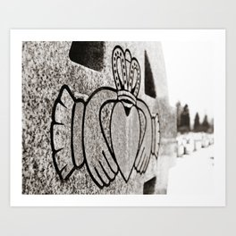 Frozen Claddagh Art Print