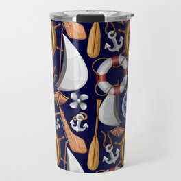 Nautical Marine and Navy Equipment Pattern Travel Mug