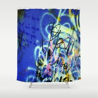 poem Shower Curtains featuring POEM by soem2014
