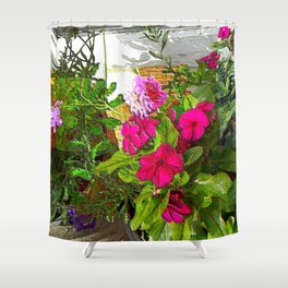 Mixed Annuals Shower Curtain