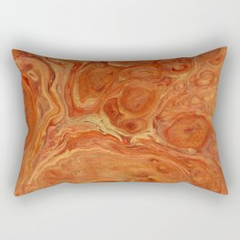 Burnt Orange Fire Lava Flow Rectangular Pillow