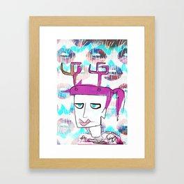 HORNY Framed Art Print