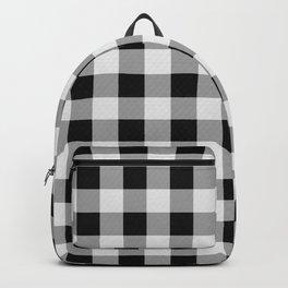 TARTAN GINGHAM CHECKERED GREY / BLACK Backpack