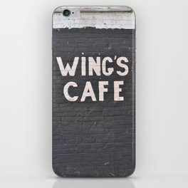 wings cafe iPhone Skin