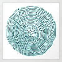 tree rings Art Prints featuring Tree Rings by Miami and Ema