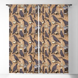 Corvids & Coffee Blackout Curtain