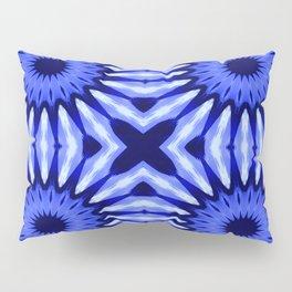 Blue Flowers Mandala Pattern Pillow Sham