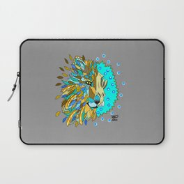 Wolf with Feathers Spirit Animal Pop Art Print Natural Laptop Sleeve