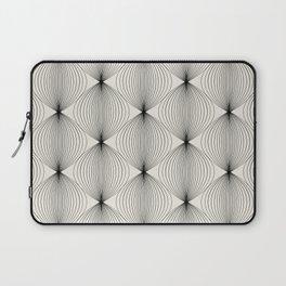 Geometric Orb Pattern - Black Laptop Sleeve