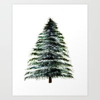 craftberrybush Art Prints featuring Evergreen Tree Tapestry by craftberrybush