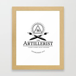 High Caliber Tee (White) Framed Art Print