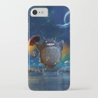 studio ghibli iPhone & iPod Cases featuring Studio Ghibli: My Neighbour Totoros by Laurence Andrew Page Illustrator