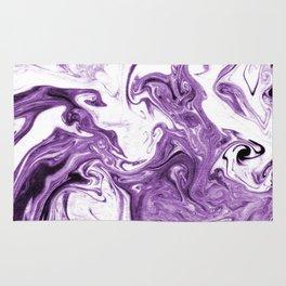 Marble Suminagashi lilac 4 watercolor pattern art pisces water wave ocean minimal design Rug