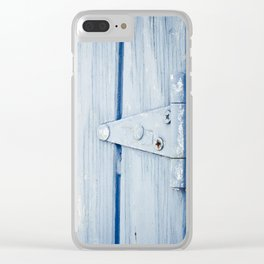 blue hinge Clear iPhone Case