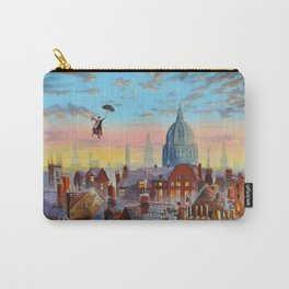 Mary Poppins flying above the rooftops of London Carry-All Pouch