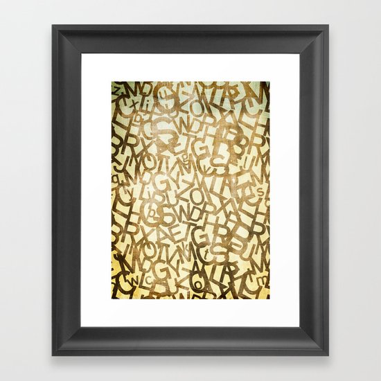 Din pattern Framed Art Print