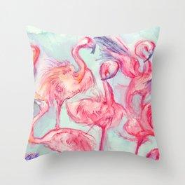 Flamingoes Dance Throw Pillow