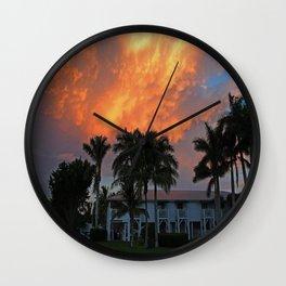 Sunset Over Tarpon Wall Clock