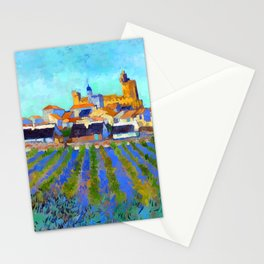 Vincent van Gogh View of Saintes Maries de la Mer Stationery Cards