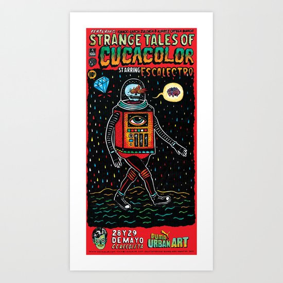 strange tales of cucacolor Art Print