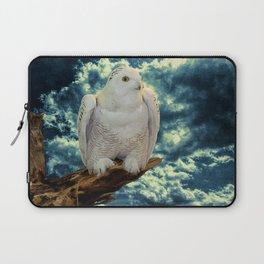 Snowy Owl against Aqua Sky Country Decor A147 Laptop Sleeve
