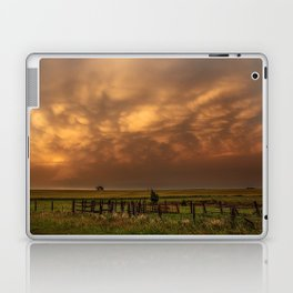 Afterglow - Clouds Glow After Storms at Sunset Laptop & iPad Skin