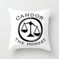 divergent Throw Pillows featuring Divergent - Candor The Honest by Lunil