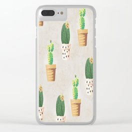Concrete - Cactus Wall Clear iPhone Case