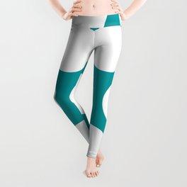Large Polka Dots: Teal Leggings