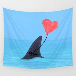 Original Shark Love Design Wall Tapestry